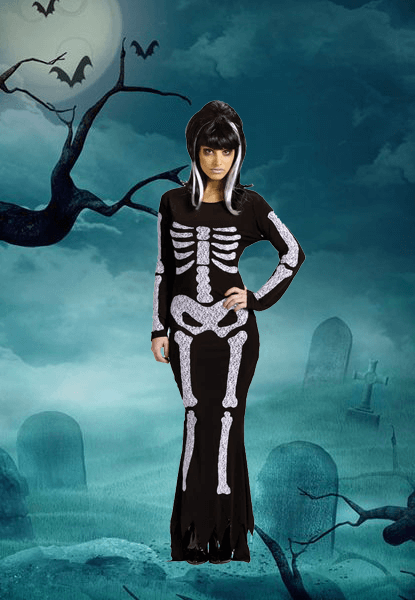 Womens Skeleton Costum